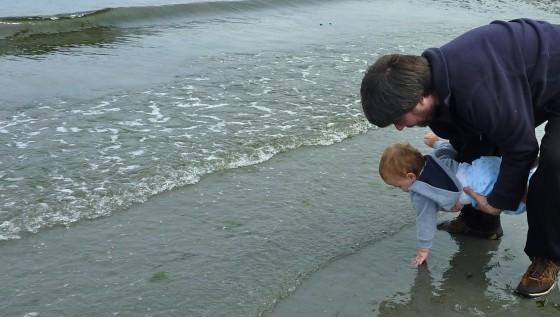 Alex touches Puget Sound