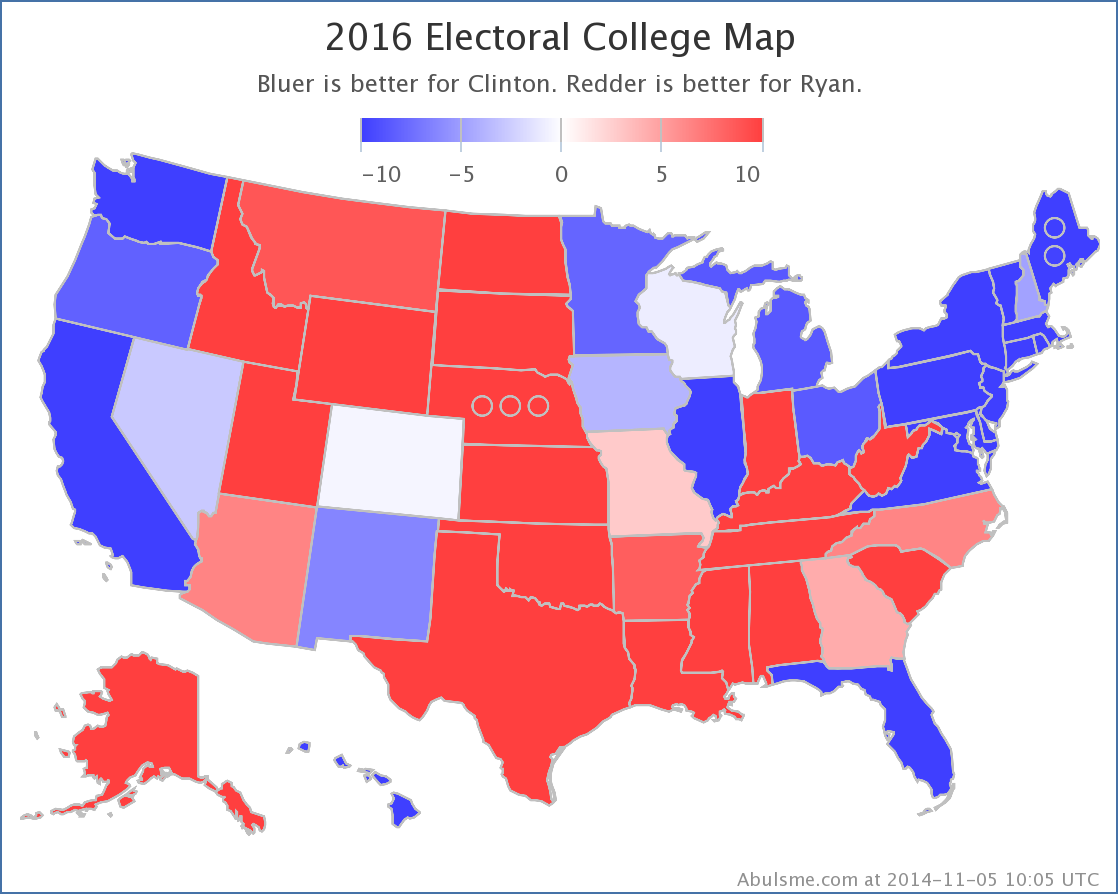 List Of Red Blue States For Election 2016 | Autos Post
