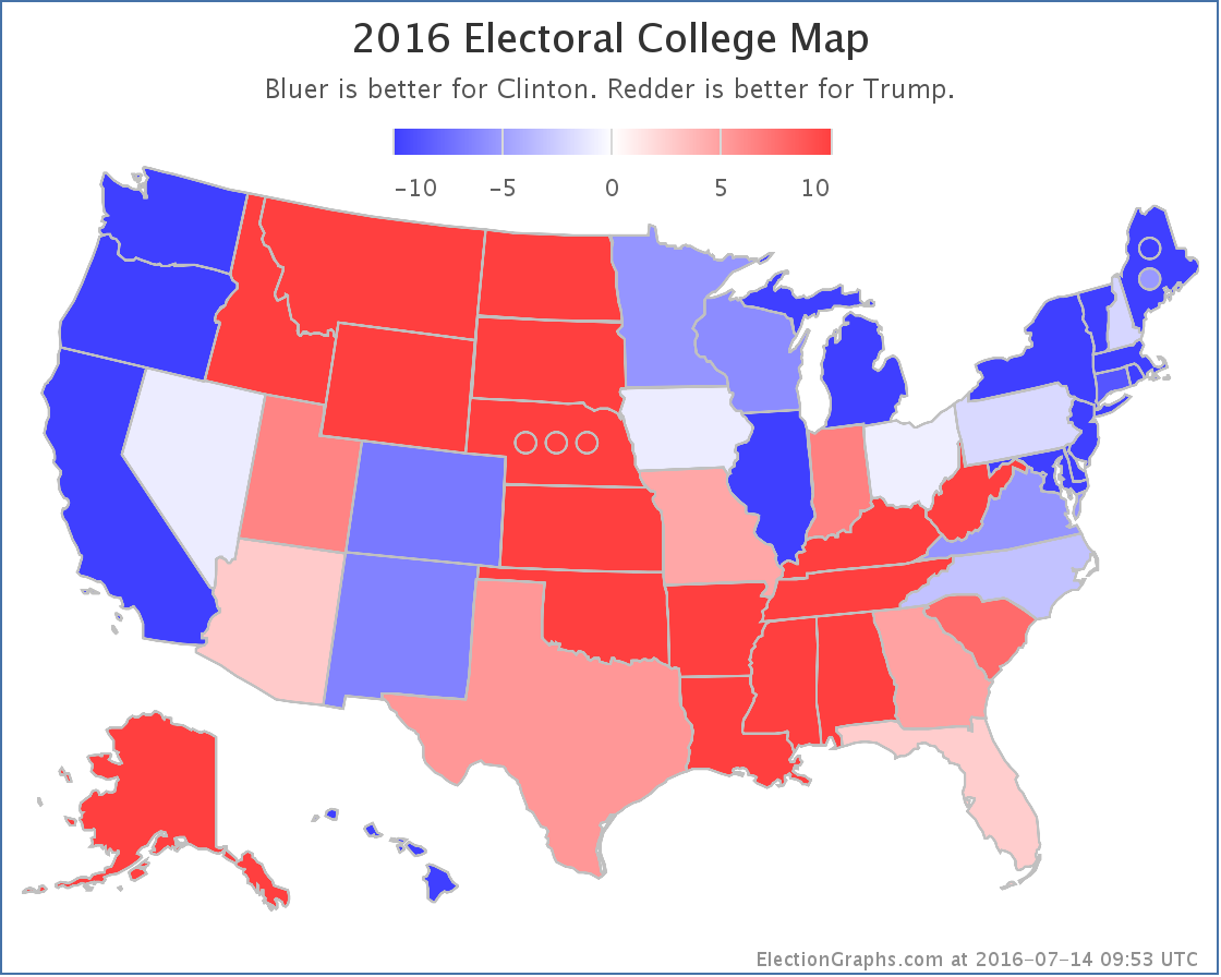 Abulsmecom Electoral College Trump Continues To Tighten The Race - Us electoral college map 2016